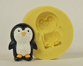 Penguin A190- Flexible Silicone Mold - Crafts, Jewelry, Resin, PMC, Soap, Food, Scrapbooking, Polymer Clay, Push Mold