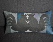 Cockerels Pillow / Handmade to order