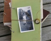 Last Day for Free Shipping: ThisPage Journal Vintage and Upcycled Paper (Large Green)