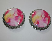 Barbie Party Princess Finished Bottle Cap Set for Hairbows Scrapbooking