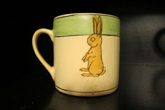 Sale 20% Off Vintage Roseville Juvenile Bunny Mug