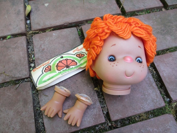 Vintage Darice Doll Head and Hands - NOS