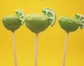 Margarita Cake Pops / 1 Dozen / Margarita, Mexican, Cinco de mayo, Tequila, Lime