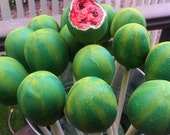 Watermelon Cake Pops / 1 Dozen / Wedding, Birthday, Picnic, BBQ, Summer / Chocolate, Coconut, etc.