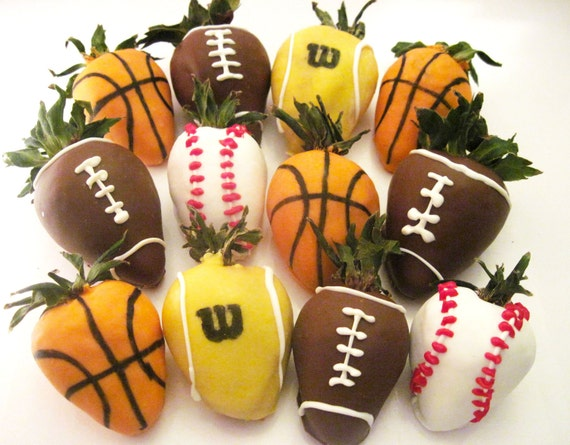 Items similar to Custom Chocolate Covered Strawberries Sports for Men ...