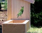 "Cedar Chalet Bird Feeder ""Owl"""