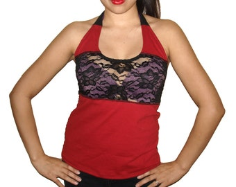 Custom Altered Diy Halter Top See Through Front and Back - All sizes - Fast shipping