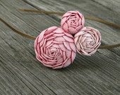 Peach and Pink Rosette Headband  for Women