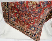 RESERVED Cranberry Red Vintage Persian Rug