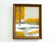 Retro Fall / Winter Scene Painting