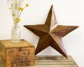 Country Barn Vintage Metal Star