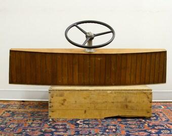 Vintage 1940s Wooden Boat Helm