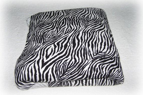 Cotton Knit Zebra printed rib fabric
