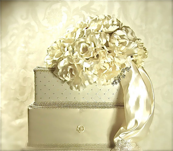 Reserved For Maria Wedding Card Box With Velcro Lock