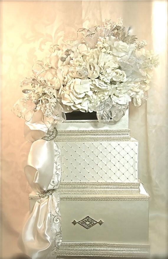 wedding card box diamond custom wedding card holder