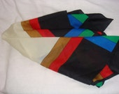 Large Square Multicolor Geometric  Scarf