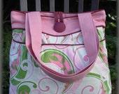 Pink & Green Swirl Hobo Bag