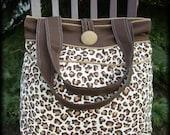 Leopard Print Hobo Bag