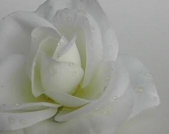 Bridal Rose Hair Clip