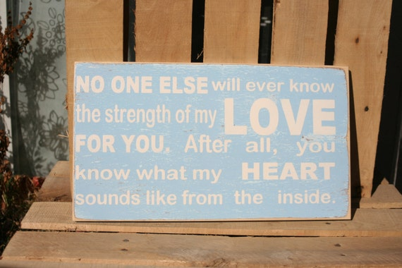 My LOVE for you hand painted distressed wood sign