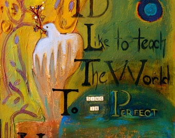 Peace  painted reproduction