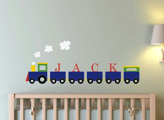 Children Wall Decal Train Personalized Name Vinyl Decal