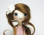 Big Eyed Art doll- OOAK Miniature Doll