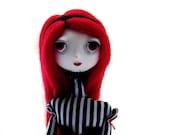 Custom Goth Art Doll - OOAK Art Doll
