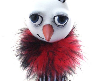 Goth Snowman - Goth Christmas - Christmas Decor - Spooky Snowman - MADE TO ORDER