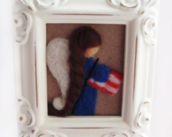 Needle Felted 4th of July Angel