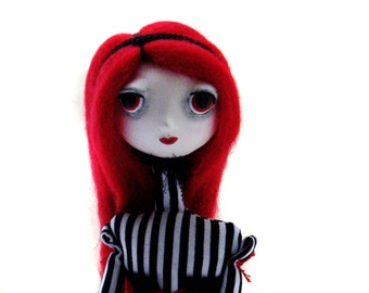 Custom Goth Art Doll - OOAK Art Doll