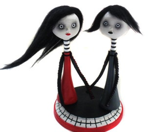 Goth Art Doll - Goth Couple Dolls - Spooky Dolls - Made to Order