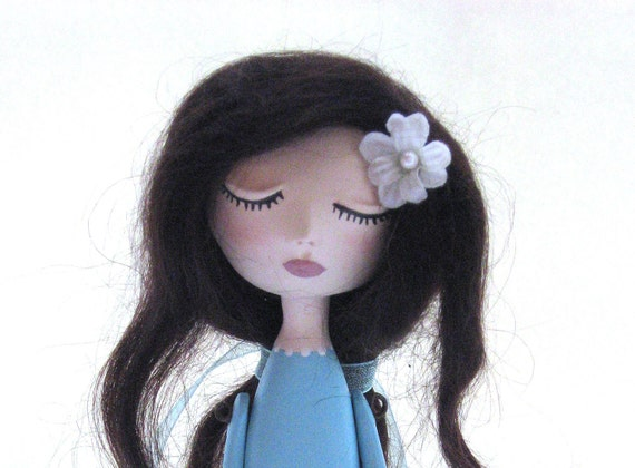 Mother To Be Gift - Mother To Be Doll - Expecting Mother - Aqua Art Doll