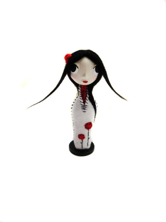Miniature Art Doll - Cloth Doll - Made to Order