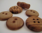 Wood Buttons Mixed Lot of 6
