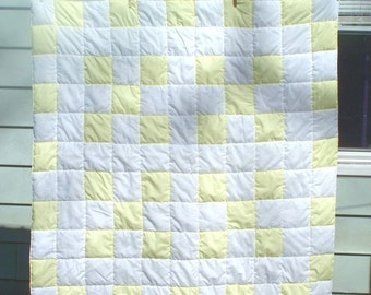 Yellow and White Lap Quilt  (SALE)
