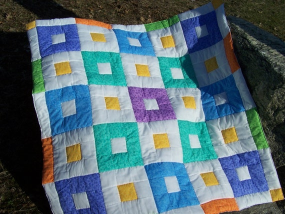 Bright Cut Outs Boy or Girl Quilt (SALE)