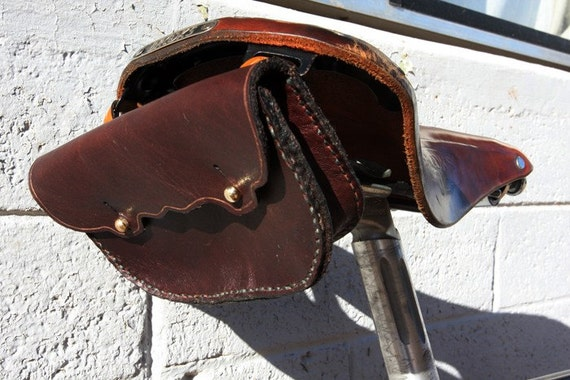 Leather Bicycle Saddles Leather Bicycle Saddle Bag or