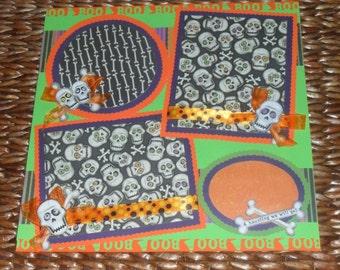 Halloween Boy Girl 12x12 Premade Scrapbook Page by KARI