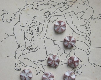 Purple Flower Picasso Beads