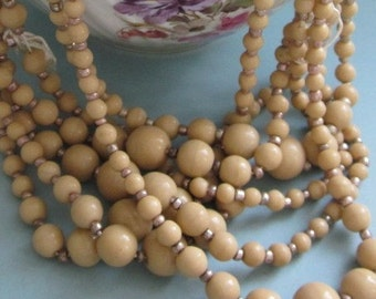 Two Strands Of Vintage Japanese Graduated  Glass Beads