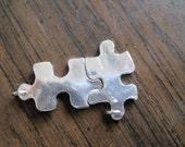 2 Puzzle Pieces (fine silver)