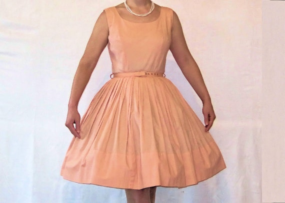 1950's/1960's Vintage Pink Mad Men Era Ballerina Dress