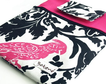 iPad Case, iPad Cover, Back to School Pink iPad Case, iPad Sleeve Pink, Pink Bird ipad Fuchsia