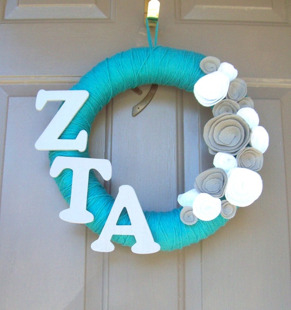 Zeta Tau Alpha Yarn Wreath