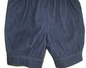 Girls Denim Bubble Shorts Denim Stretch Dark Blue Bubble Shorts