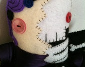 LIVING DEAD GIRL 100% hand sewn plush with dress