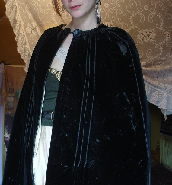 REDUCED Black Velvet Cape