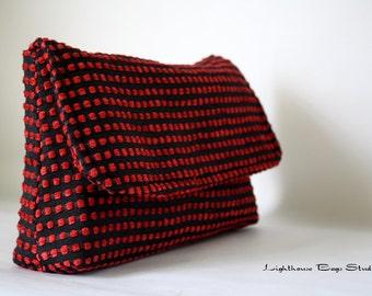 Diaper Clutch / Bridesmaid-Wedding Clutch - Red & Black