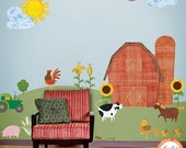 Farm Wall Sticker Decals for Personalized Baby Nursery